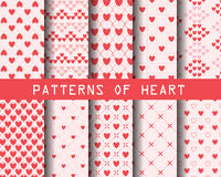 Heart patterns Stock Photos