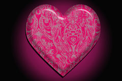 Heart in patterns, a Valentines Day theme. Stock Photography