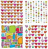 Heart patterns for your design Royalty Free Stock Photo