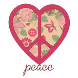 Heart peace symbol Royalty Free Stock Photos