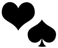 Heart, peaks. Royalty Free Stock Photos