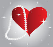 Heart and a pearl Royalty Free Stock Image