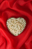 Heart of pearl Royalty Free Stock Images