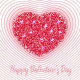 Bright colored heart with petals stock illustration