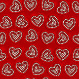 Heart pearl decoration or Valentine day seamless background Royalty Free Stock Photo