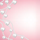 Heart pearl necklace Royalty Free Stock Photo