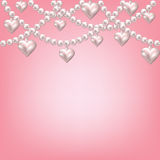 Heart pearl necklace Stock Image