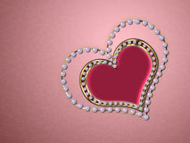 Heart of pearls Royalty Free Stock Photo