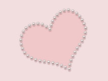 Heart from pearls Stock Photo