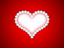 Heart from pearls Royalty Free Stock Images