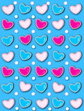 Heart and Pearls Bright Blue Royalty Free Stock Images