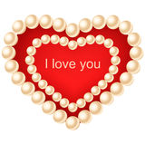 Heart with pearls. Stock Photos