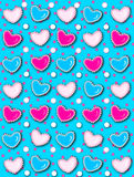 Heart and Pearls Hot Pink Dots Royalty Free Stock Photo
