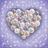 Heart from pearls Royalty Free Stock Photography