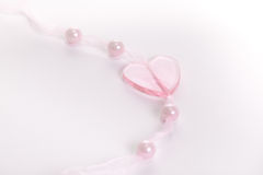 Heart and Pearls Stock Photography