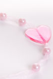 Heart and Pearls Royalty Free Stock Photography