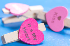 Heart Peg Royalty Free Stock Images