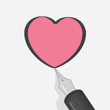 Heart Pen Royalty Free Stock Images