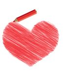 Heart pencil Royalty Free Stock Photos
