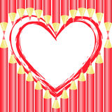 Heart of pencils Royalty Free Stock Images
