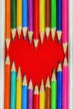 Heart Pencils Shape Royalty Free Stock Photos