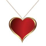Heart pendand Stock Photo