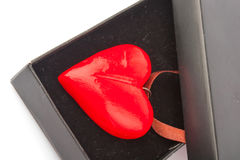 Heart pendant in box Royalty Free Stock Image