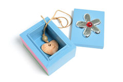 Heart Pendant in Gift Box Royalty Free Stock Image