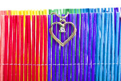 Heart pendant of gold Royalty Free Stock Photo