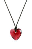 Heart pendant. Isolated on the white background royalty free stock photos
