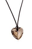 Heart pendant isolated on the white Royalty Free Stock Image
