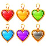 Heart Pendants Royalty Free Stock Image