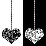 Heart pendulum isolated Stock Photo