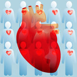 Heart and people with good hearts Stock Images