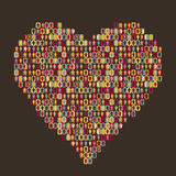 Heart - people icon. Vector illustration of heart  people icon Stock Photography
