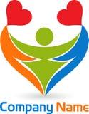 Heart people logo Stock Photos