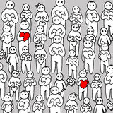 Heart people person love vector happy family illustration  Stock Photos