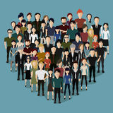 The heart of the people. Vector illustration, heart of the people Royalty Free Stock Photography