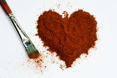 Heart of pepper Royalty Free Stock Photo