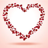 Heart petals Stock Photography