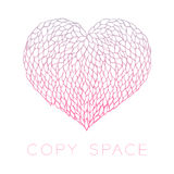 Heart petals flower design pink purple gradients color Royalty Free Stock Image