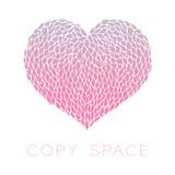 Heart petals flower design pink purple gradients color Stock Photography