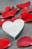 Heart with petals. Stock Photos