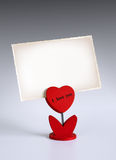 Heart photo holder Royalty Free Stock Image