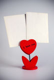 Heart photo holder Stock Photos