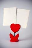 Heart photo holder Stock Photos