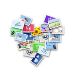 Heart of photos Stock Photography