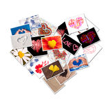 Heart photos collage Royalty Free Stock Photos