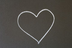 Heart. Picture in chalk on a blackboard Royalty Free Stock Photo