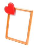 The heart of the picture frame Royalty Free Stock Images
